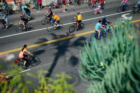 CicLAvia on Ventura Boulevard in the SFV in 2015.
