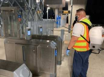 cleaning turnstiles