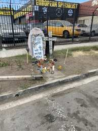 Streetside memorial at Vermont and 71st Street
