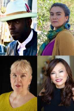 Teaching Poets A.K. Toney, Olga García Echeverría, Tanya Ko Hong, and Terry Wolverton who worked with students from Fairfax High School