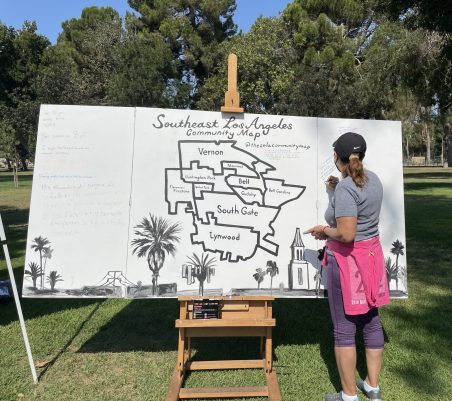 The SELA Community Map pop-up launched at South Gate Park during a low-cost pet vaccine and wellness clinic on September 25.