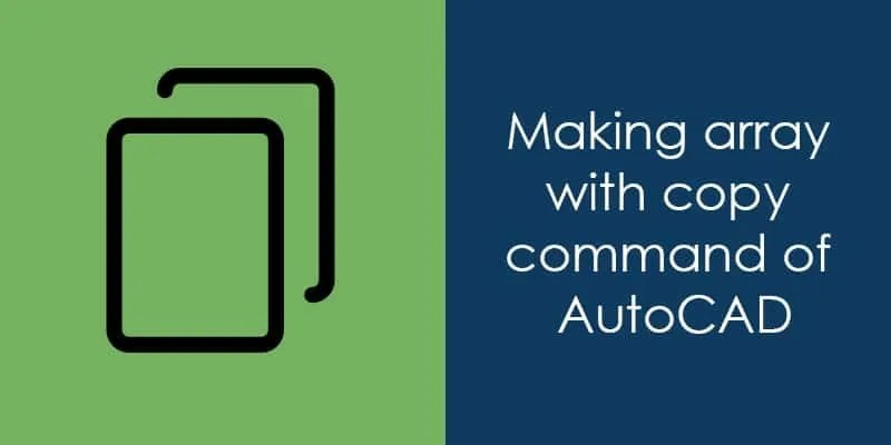 how to use array tool in autocad