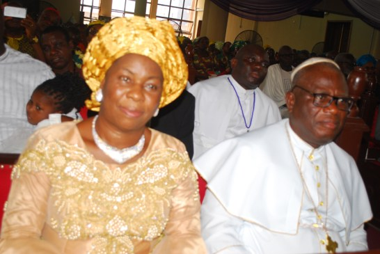 R-L Dr. Samuel Chukwuemeka Uche Kanu and his wife Florence