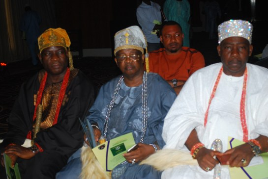 Oba Abdul Semiu Orimadegun, Adeboruwa of Igbogbo, Oba Engr. Kabir Adewale Shotobi, Ayanbure of Ikorodu and Oba Fatai Aremu Aromire,Ojora of Ijora& Iganmu Kingdom