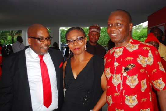 Mr. Eric Osagie, Mrs Lauretta Onyima and her husband Tony