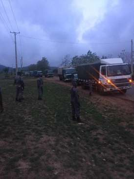 Smuggled Truck Load of Rice From Oyo Axis