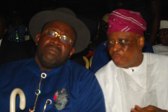 Seriaka Dickson, governor of Bayelsa State and Chief Olusegun Osoba, former governor of Ogun State