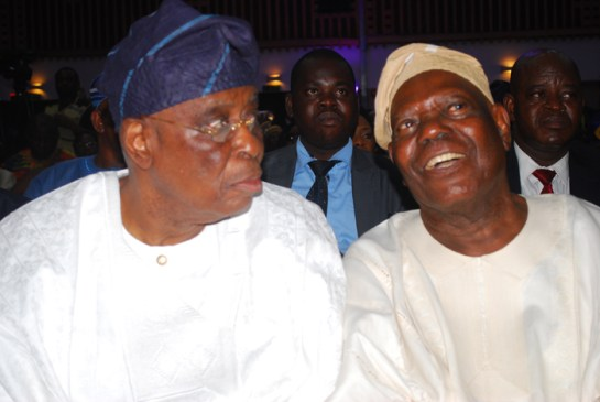 Chief Olusegun Osoba and Chief Bisi Akande