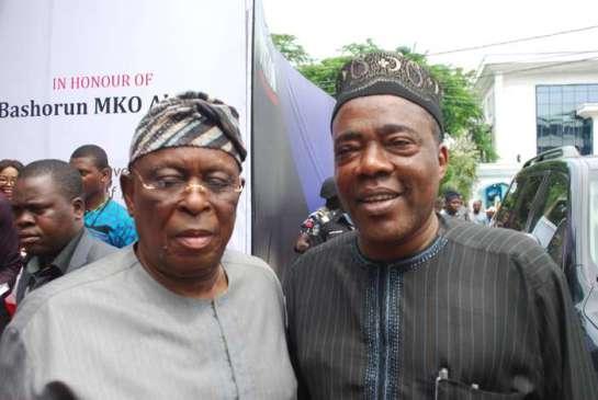 Chief Olusegun Osoba and Ganiyu Olanrewaju Solomon