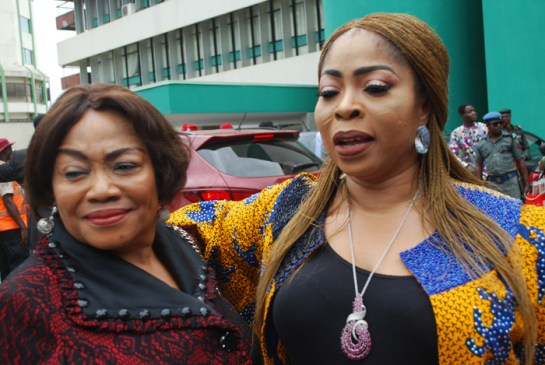 Mrs. Ngozi Areh and princess Omotade Abiodun
