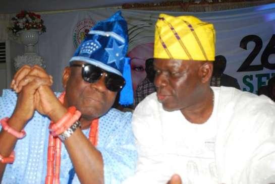 Oba Rilwan Akiolu,Oba of Lagos and Alhaji Tunde Balogun