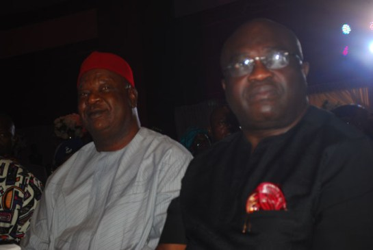 Anyim Pius Anyim and Dr.Okezie Ikpeazu,governor of Abia State