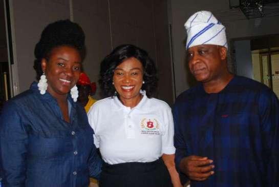 Mrs Oyaduni Gbadebo,Sen.. Oluremi Tinubu and Prince Adesegun Oniru