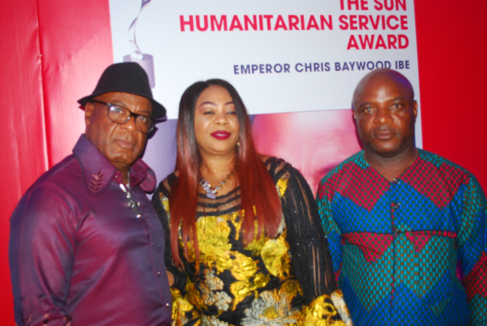 Emperor Chris Baywood Ibe,Mrs. Pat Ibe and Mr. Uchenna Ibe