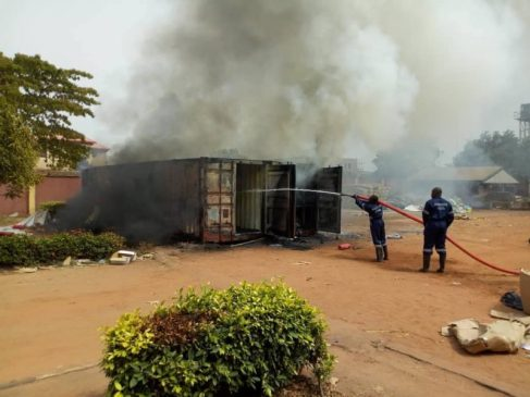 INEC Container-Built Office: Razed At Awka, Anambra State