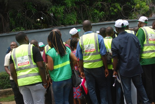Cross- Section of INEC accredited Journalist on duty