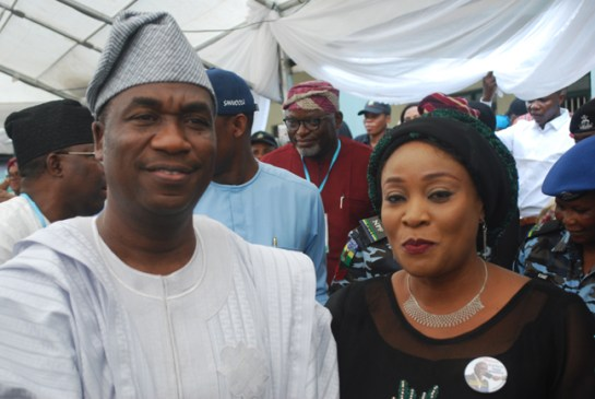Dr. Obafemi Hamzat and his wife Oluremi