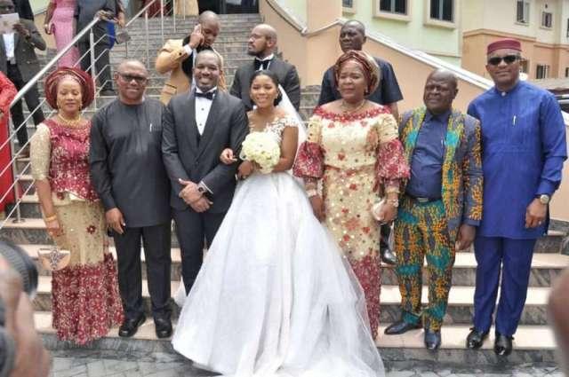 Nmachukwu umeofia, Peter obi, Groom, Bride, nkechi Obi, Chief Eric umeofia and Dr. Nkem Okeke