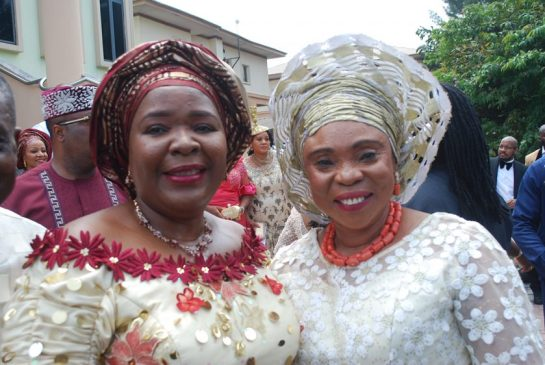 The bride's mother Nkechi Obi and Dame Comfort Obi