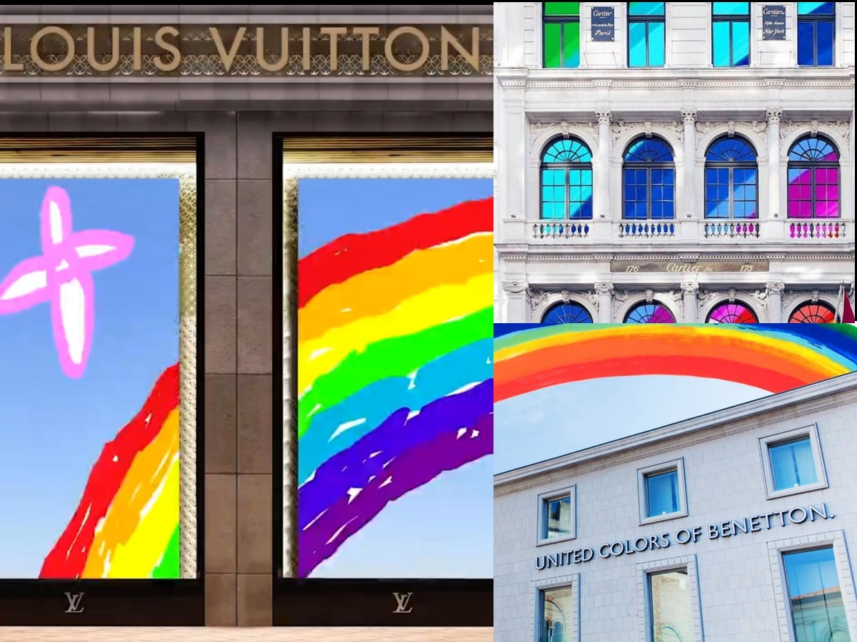 Cartier, Louis Vuitton, and United Colors of Benetton