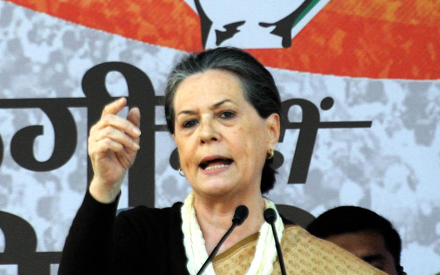 Congress chief Sonia Gandhi.