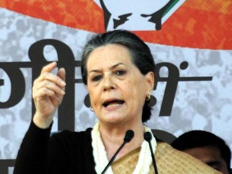 Congress chief Sonia Gandhi.