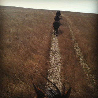 Nukie and I bringing in the straglers...