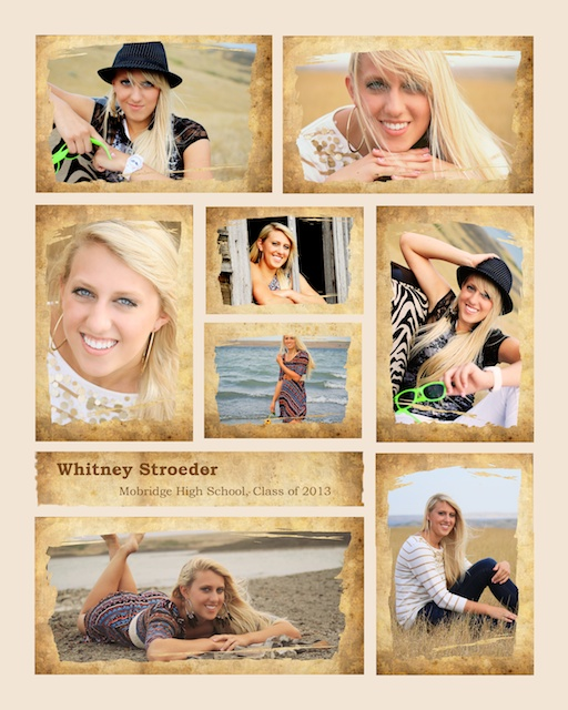 south dakota cowgirl photography, photo collage, senior portrait collage, south dakota portrait collage