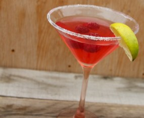 Raspberry Lime Martinis