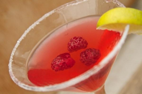 Raspberry Lime Martini