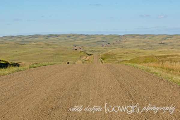 south dakota cowgirl photography, the south dakota cowgirl, landscape photography, south dakota landscapes, a long gravel road