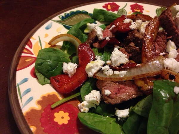Steak Salad with Goat Cheese and Coconut Rum