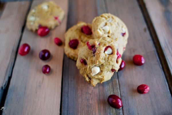 Pumpkin Cranberry White Chocolate Cookies