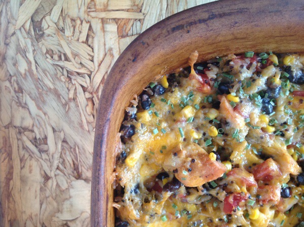 Green Chile Chicken Taco Casserole