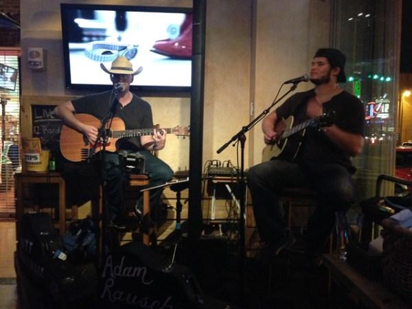Steve singing with Adam Rausche