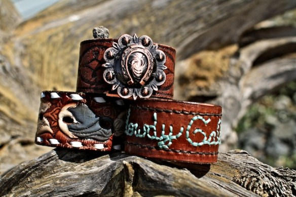 rodeo cowgirl cuffs by The Bucking Mare