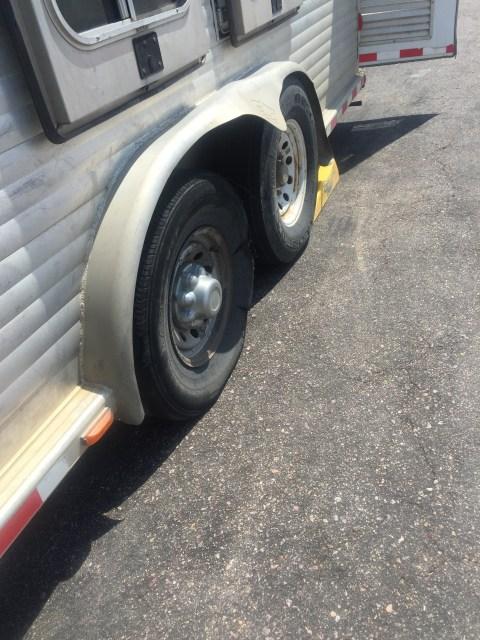 shredded tire...