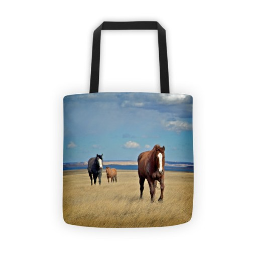 Buckskin and Blue Tote Bag