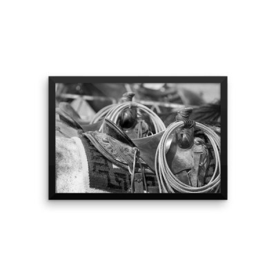 """Waiting"" B/W Premium Framed Poster"
