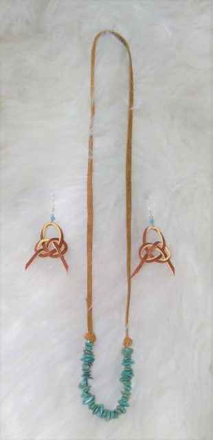 alamar knot earrings and necklace, Tapadero Annie's Designs