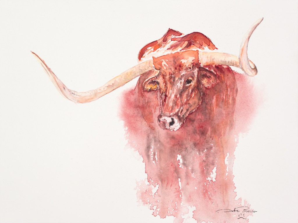 big-red, debra bruner art studio, debra bruner watercolors, debra bruner