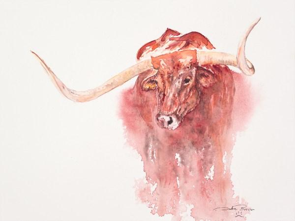 big-red, debra bruner art studio, debra bruner watercolors, debra bruner