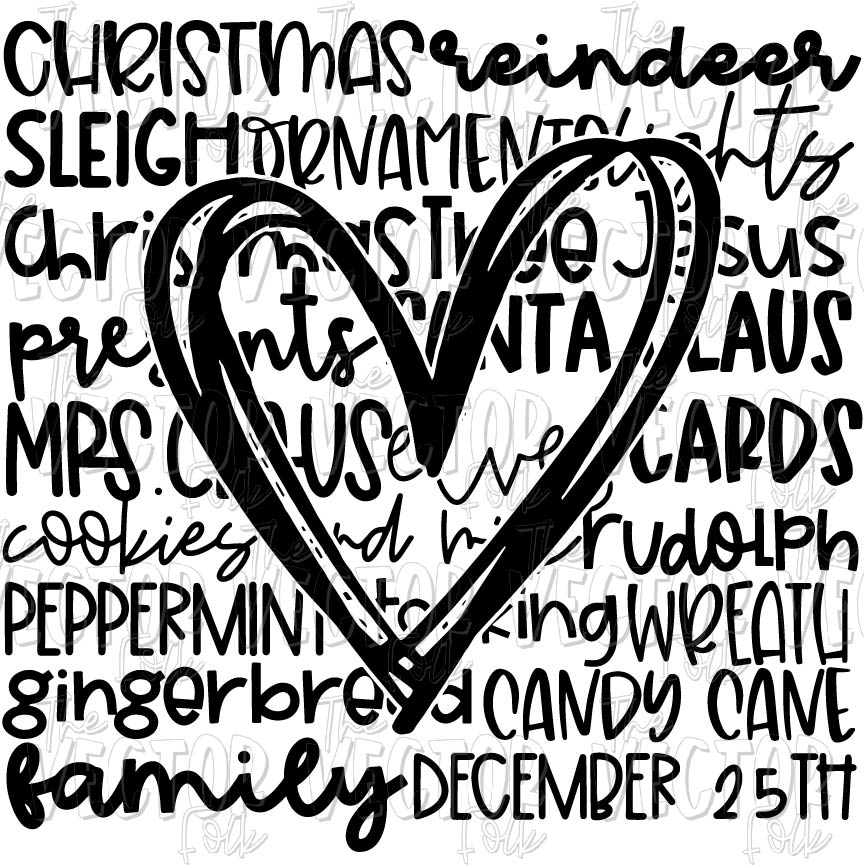 Download Christmas Love SVG, DXF and PNG - THE SOUTHERN FOLK