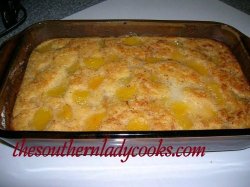 Easy fruit cobbler-The Southern Lady Cooks