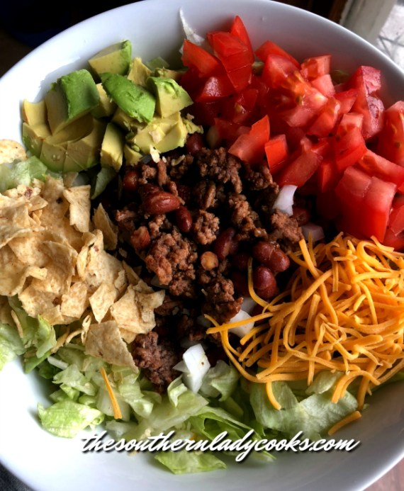 Easy Taco Salad The Southern Lady Cooks