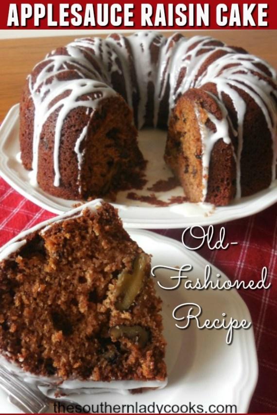 Applesauce Raisin Cake - The Southern Lady Cooks