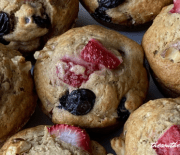 STRAWBERRY BANANA BLUEBERRY MUFFINS