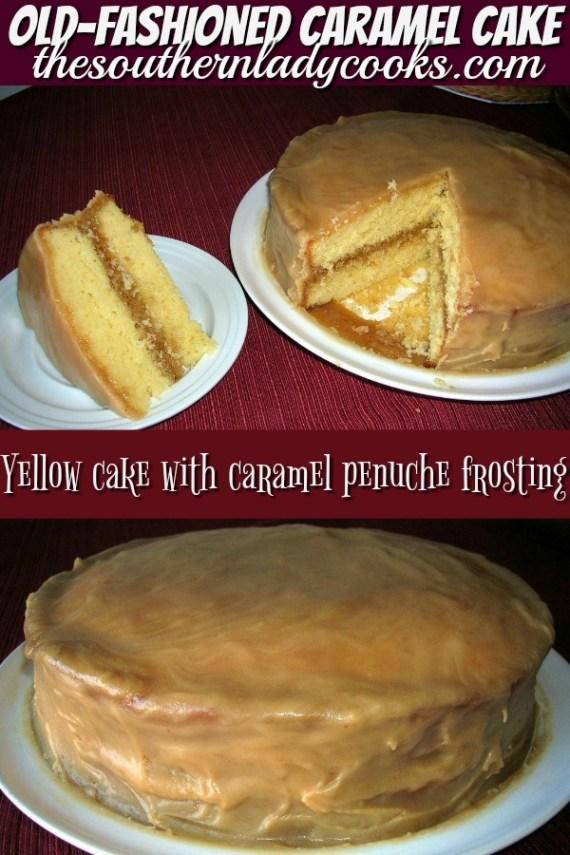 Penuche Frosting Caramel Cake