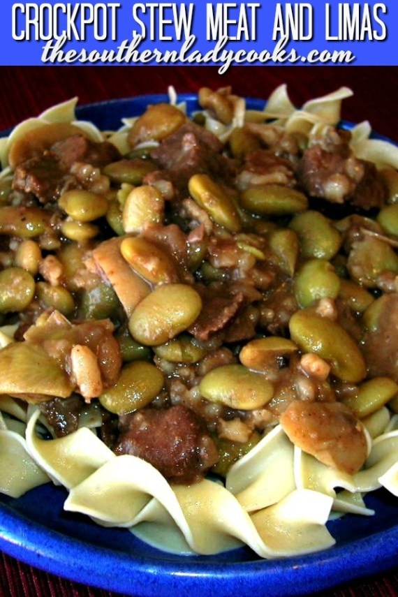 Slow Cooker Stew Meat and Limas