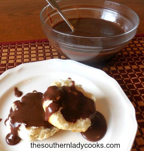 Sauce au chocolat The Southern Lady Cooks